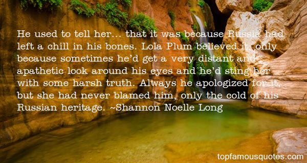Shannon Noelle Long Quotes