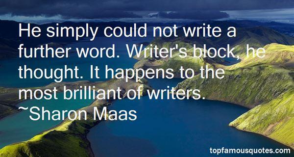 Sharon Maas Quotes