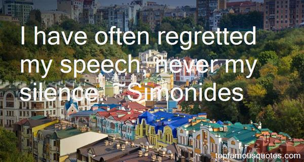 Simonides Quotes