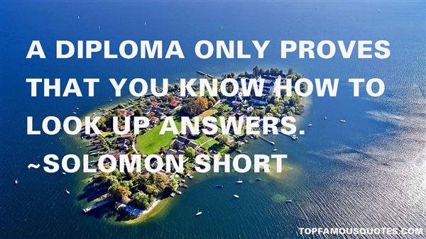 Solomon Short Quotes