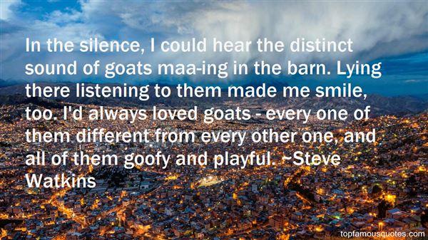 Steve Watkins Quotes