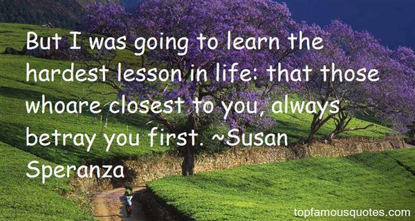 Susan Speranza Quotes
