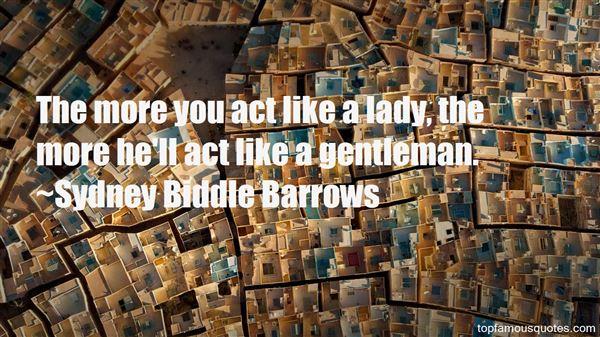 Sydney Biddle Barrows Quotes