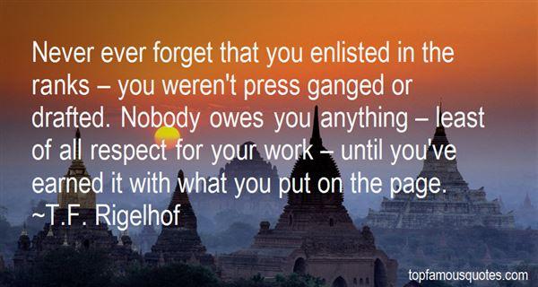 T.F. Rigelhof Quotes
