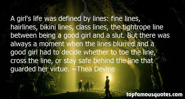 Thea Devine Quotes
