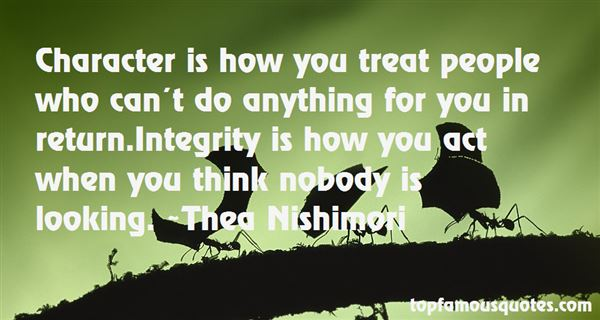 Thea Nishimori Quotes