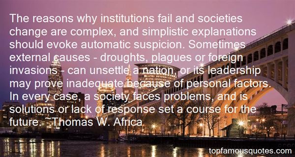 Thomas W. Africa Quotes