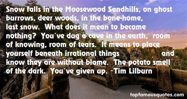 Tim Lilburn Quotes