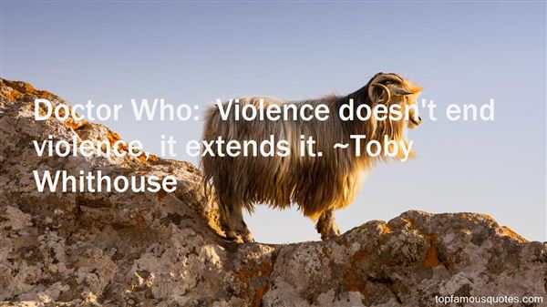 Toby Whithouse Quotes