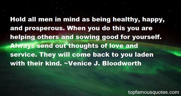 Venice J. Bloodworth Quotes
