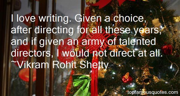 Vikram Rohit Shetty Quotes