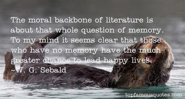 W. G. Sebald Quotes