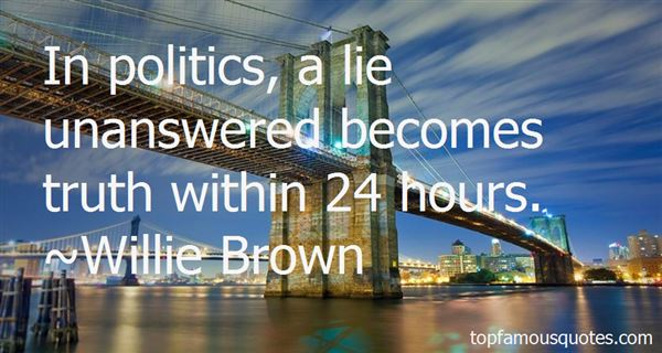 Willie Brown Quotes