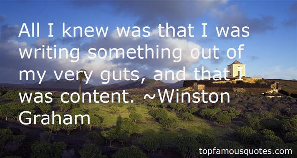 Winston Graham Quotes