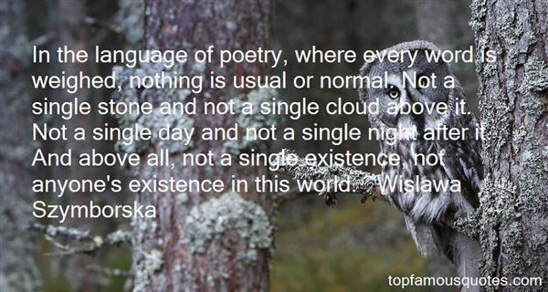 Wislawa Szymborska Quotes