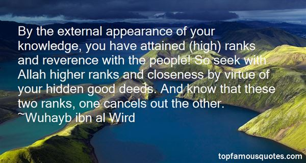 Wuhayb Ibn Al Wird Quotes