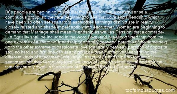 Quotes About Between Love And Friendship