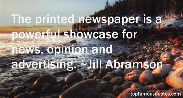 Quotes About Print Advertising