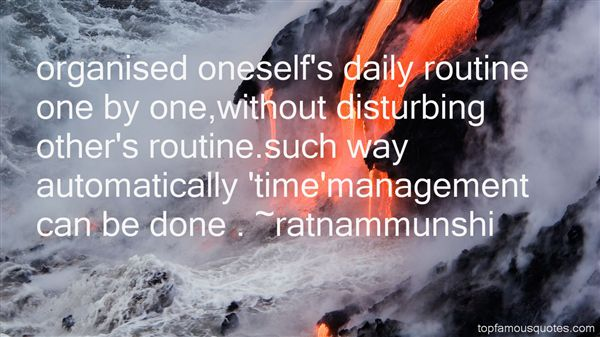 Quotes About Daily Routine