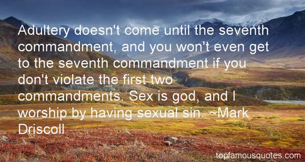 Quotes About The Seventh Commandment