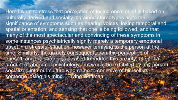 Quotes About Abnormal Psychology