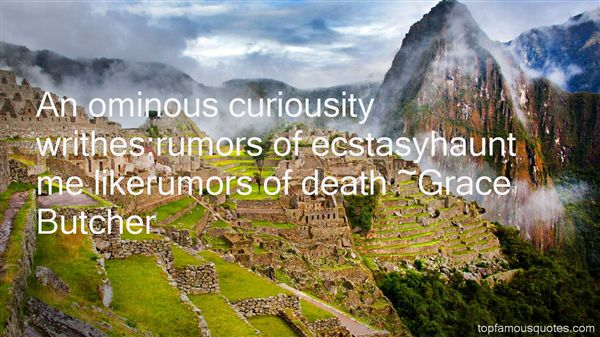 Quotes About Ominous Death