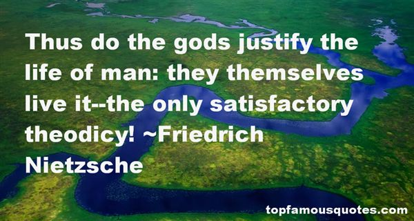 Quotes About Theodicy