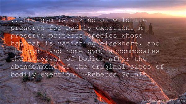 Quotes About Wildlife Habitat