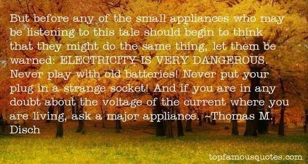 Quotes About Appliances