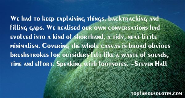 Quotes About Backtracking