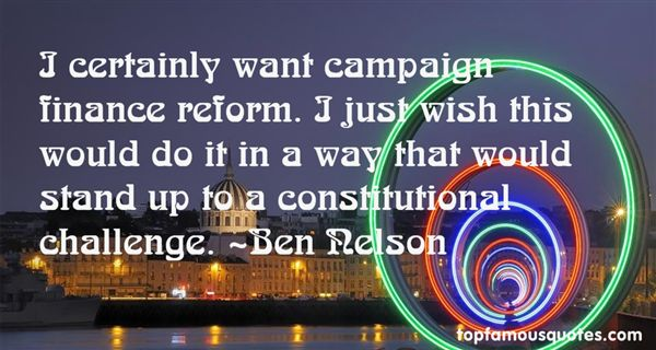 Quotes About Campaign Finance Reform