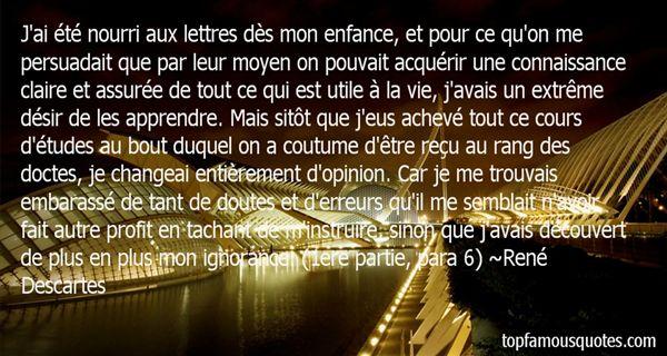 Quotes About Connaissance