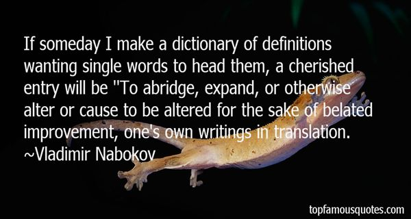 Quotes About Dictionary Definitions