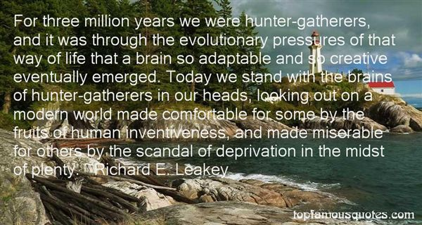 Quotes About Hunter Gatherers