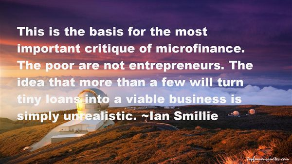 Quotes About Microfinance