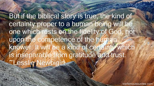 Quotes About Biblical Fidelity