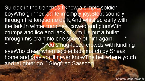 Quotes About Life In Trenches