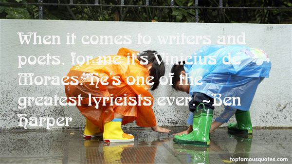 Quotes About Lyricists