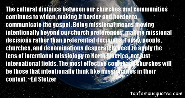 Quotes About Missional Church