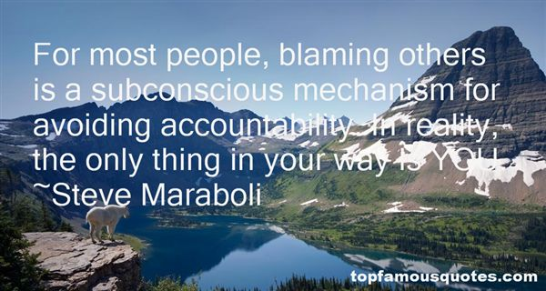 Quotes About Blaming Others