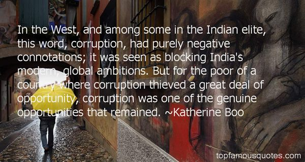 Quotes About Corruption In India