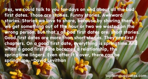 Quotes About First Dates