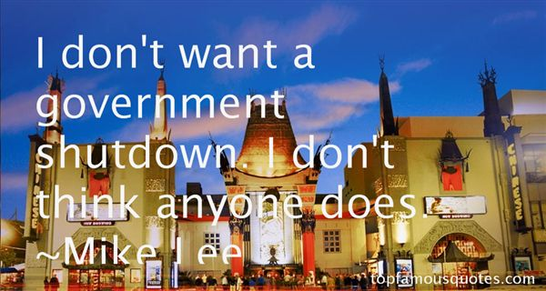 Quotes About Gov Shutdown