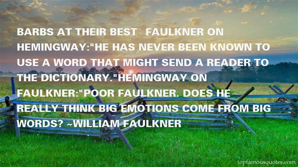 Quotes About Hemingway Faulkner