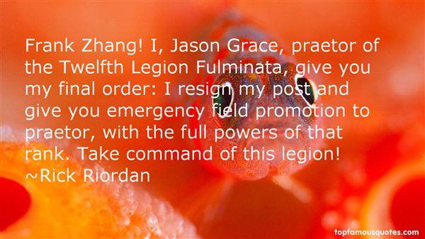 Quotes About Jason Grace