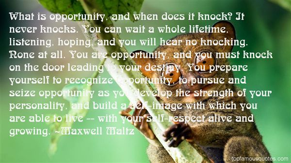 Quotes About Opportunity Knocking