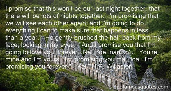Quotes About Promising Forever