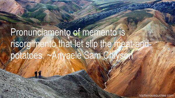 Quotes About Pronunciamento
