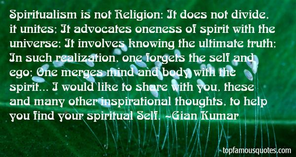 Quotes About Spiritualism