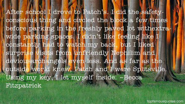 Quotes About Surprise Visits